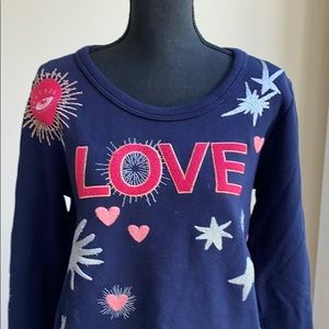 """New Chaser Embroidered """"Love"""" Sweatshirt  (size M)"""